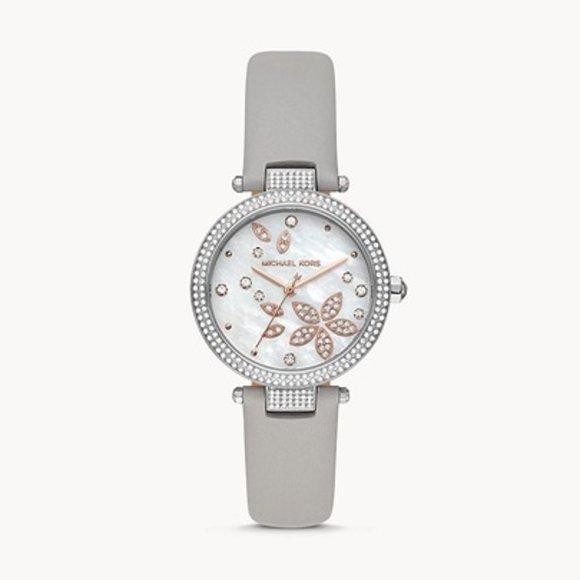 Nwt MK floral motif watch